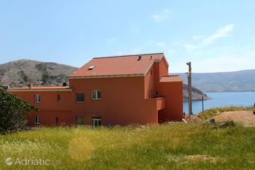 Metajna, Pag, Объект 6487 - Комнаты вблизи моря с песчаным пляжем.