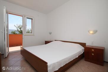 Metajna, Ložnice v ubytování typu room, s klimatizací a WiFi.