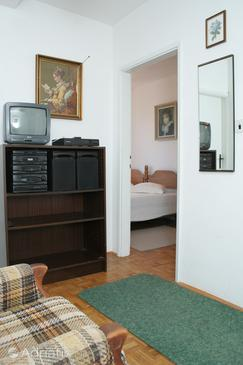 Orebić, Living room in the apartment, dopusteni kucni ljubimci.