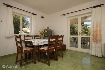 Novalja, Dining room in the apartment, (pet friendly) and WiFi.