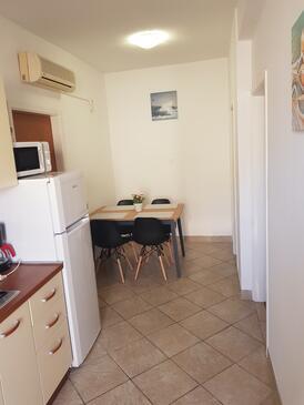 Novalja, Столовая в размещении типа apartment, доступный кондиционер, Домашние животные допускаются и WiFi.