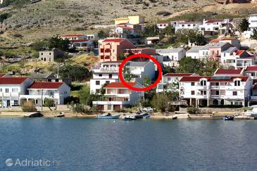Metajna, Pag, Property 6496 - Rooms near sea with sandy beach.