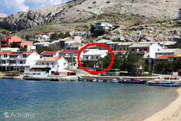 Metajna, Pag, Property 6498 - Apartments near sea with sandy beach.
