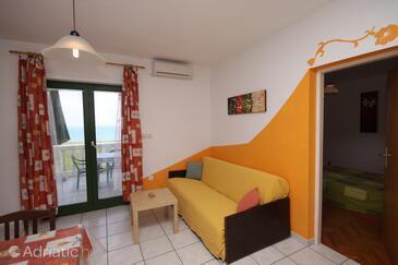 Povljana, Obývací pokoj v ubytování typu apartment, s klimatizací a WiFi.