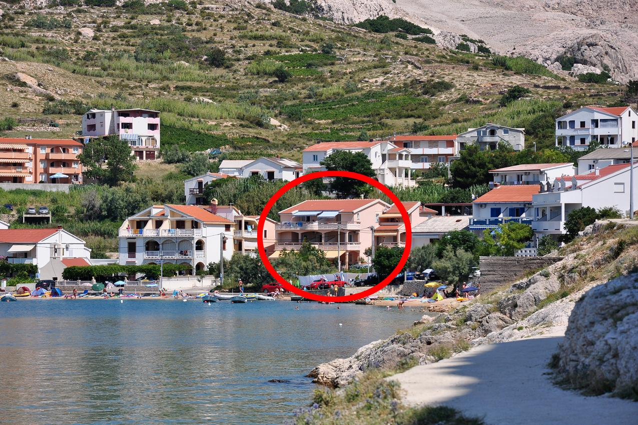 Ferienwohnung im Ort Metajna (Pag), Kapazität 2+3 (2147151), Metajna, Insel Pag, Kvarner, Kroatien, Bild 1