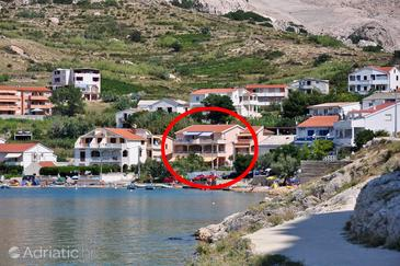 Metajna, Pag, Property 6503 - Apartments near sea with sandy beach.