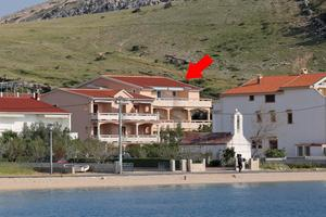 Apartments by the sea Metajna, Pag - 6503