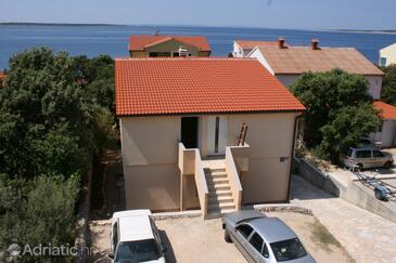 Mandre, Pag, Objekt 6516 - Ubytování v blízkosti moře s oblázkovou pláží.
