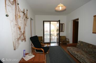 Mandre, Dnevna soba v nastanitvi vrste apartment.