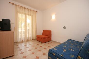 Mandre, Pokój dzienny w zakwaterowaniu typu apartment, dostupna klima, dopusteni kucni ljubimci i WIFI.