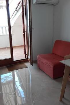 Mandre, Living room in the apartment, dostupna klima i WIFI.