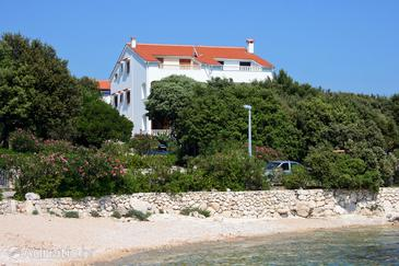 Mandre, Pag, Objekt 6518 - Ubytování v blízkosti moře s oblázkovou pláží.