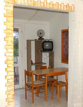 Vidalići, Jídelna v ubytování typu studio-apartment, domácí mazlíčci povoleni a WiFi.