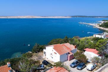 Vidalići, Pag, Szálláshely 6519 - Apartmanok a tenger közelében kavicsos stranddal.