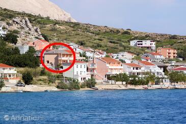 Metajna, Pag, Объект 6522 - Апартаменты вблизи моря с галечным пляжем.