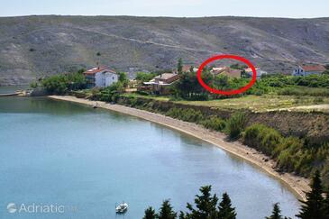 Vlašići, Pag, Property 6523 - Apartments near sea with sandy beach.