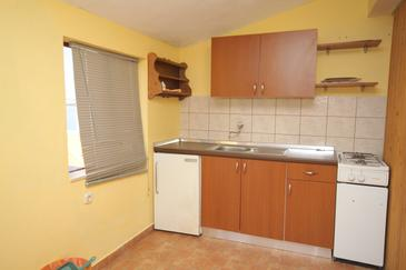 Seline, Kuchyňa v ubytovacej jednotke apartment, WIFI.