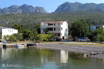 Seline, Paklenica, Объект 6528 - Апартаменты вблизи моря с галечным пляжем.