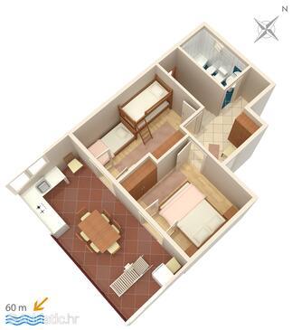 Marušići, Plan in the apartment, WIFI.