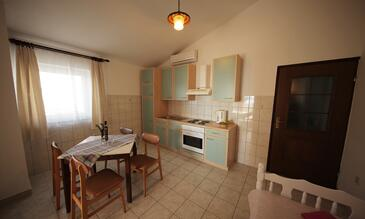 Seline, Jídelna v ubytování typu apartment, s klimatizací a WiFi.