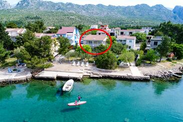 Seline, Paklenica, Property 6531 - Apartments by the sea.