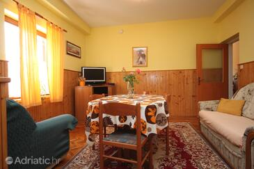 Maslenica, Dining room 1 in the apartment, dostupna klima i WIFI.