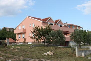 Maslenica, Novigrad, Objekt 6573 - Ubytování s oblázkovou pláží.