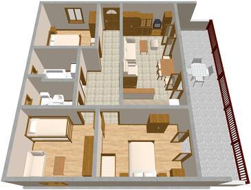 Pisak, Proiect în unitate de cazare tip apartment, WiFi.