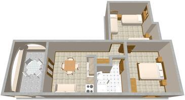 Pisak, Plan dans l'hébergement en type apartment, animaux acceptés et WiFi.