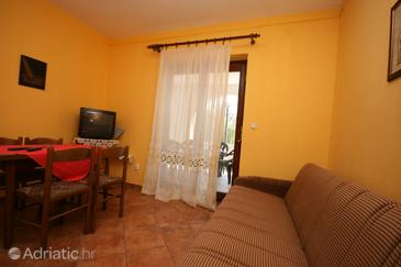 Starigrad, Living room in the apartment, dopusteni kucni ljubimci i WIFI.
