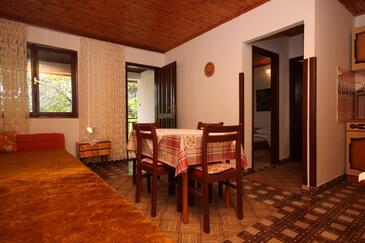 Starigrad, Jadalnia w zakwaterowaniu typu apartment, air condition available, zwierzęta domowe są dozwolone i WiFi.