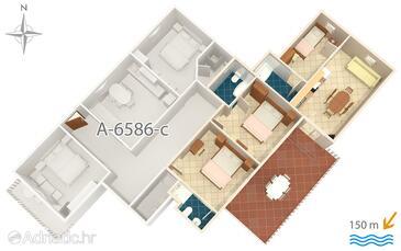 Starigrad, Plan in the apartment, WIFI.