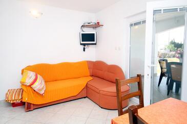 Seline, Obývacia izba v ubytovacej jednotke apartment, WiFi.