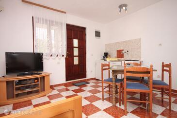 Starigrad, Столовая в размещении типа apartment, доступный кондиционер и WiFi.