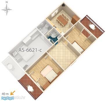 Starigrad, План в размещении типа apartment, WiFi.
