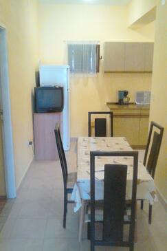 Starigrad, Jídelna v ubytování typu apartment, dopusteni kucni ljubimci i WIFI.