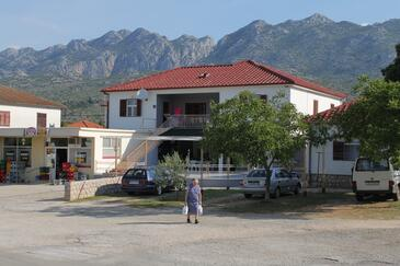Seline, Paklenica, Objekt 6628 - Ubytovanie s kamienkovou plážou.