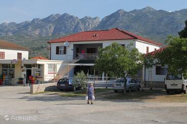 Seline, Paklenica, Property 6628 - Apartments with pebble beach.
