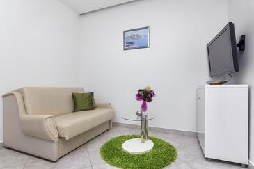 Makarska, Гостиная в размещении типа apartment, доступный кондиционер и WiFi.