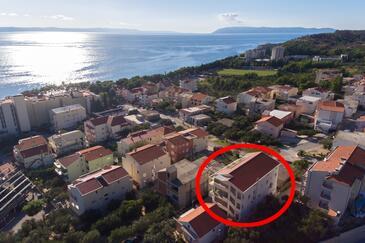 Tučepi, Makarska, Property 6657 - Apartments with pebble beach.