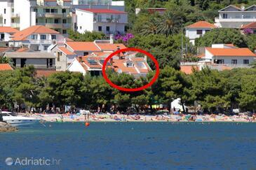 Drvenik Donja vala, Makarska, Hébergement 6658 - Appartement à proximité de la mer avec une plage de galets.