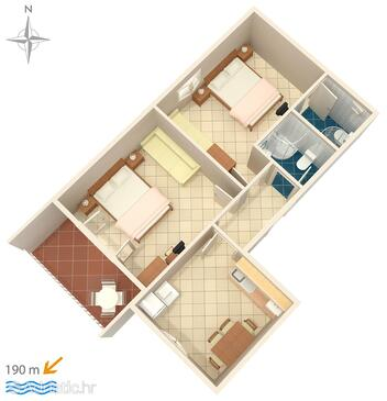 Podgora, Plano in the apartment, WiFi.