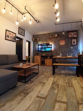 Podaca, Pokój dzienny w zakwaterowaniu typu apartment, zwierzęta domowe są dozwolone i WiFi.