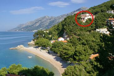 Brela, Makarska, Objekt 6688 - Ubytování v blízkosti moře s oblázkovou pláží.