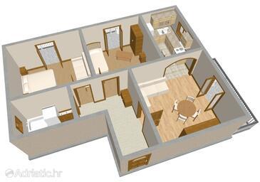 Zadar, Plan in the apartment, WIFI.