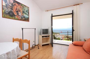 Živogošće - Blato, Living room in the apartment, WIFI.
