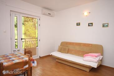 Živogošće - Porat, Гостиная в размещении типа apartment, доступный кондиционер и WiFi.