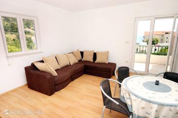 Drvenik Donja vala, Jadalnia w zakwaterowaniu typu apartment, Dostępna klimatyzacja i WiFi.