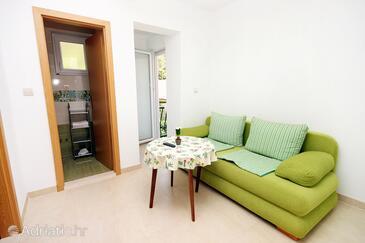 Drvenik Donja vala, Jídelna v ubytování typu apartment, s klimatizací a WiFi.