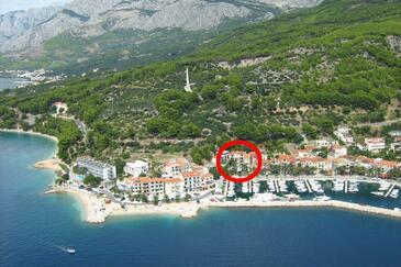 Podgora, Makarska, Objekt 6705 - Ubytování v blízkosti moře s oblázkovou pláží.